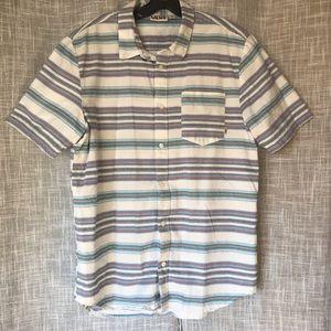 Vans SS Button Up Striped Shirt
